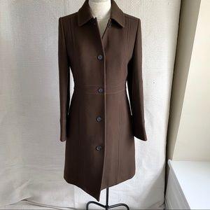 J.Crew 6 Wool Year Round Lady Coat 3/4 Midi Brown